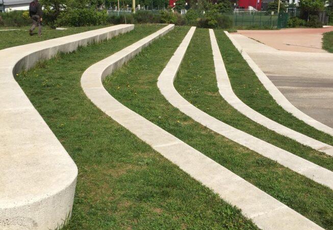 Parc Clos Layat, Lione. I gradoni dell'anfiteatro.
